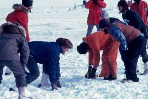 Christmas Day at the South Pole (1976). Photo from SouthPoleStation.com