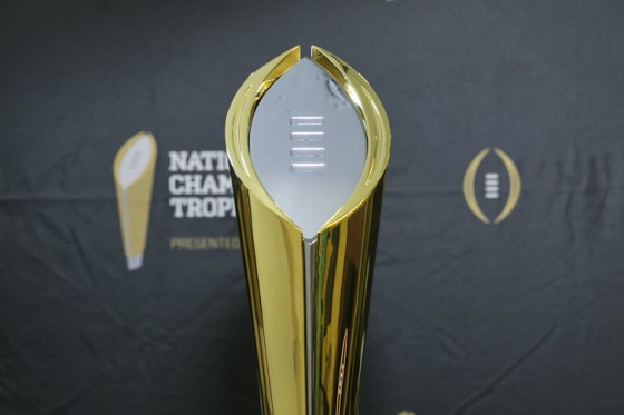 NCAA Football: National Championship Trophy Unveiling
