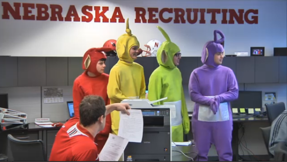Nebraska Recruiting Teletubbies