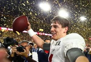 Jake Coker after winning the national championship. Mark J. Rebilas | USA Today