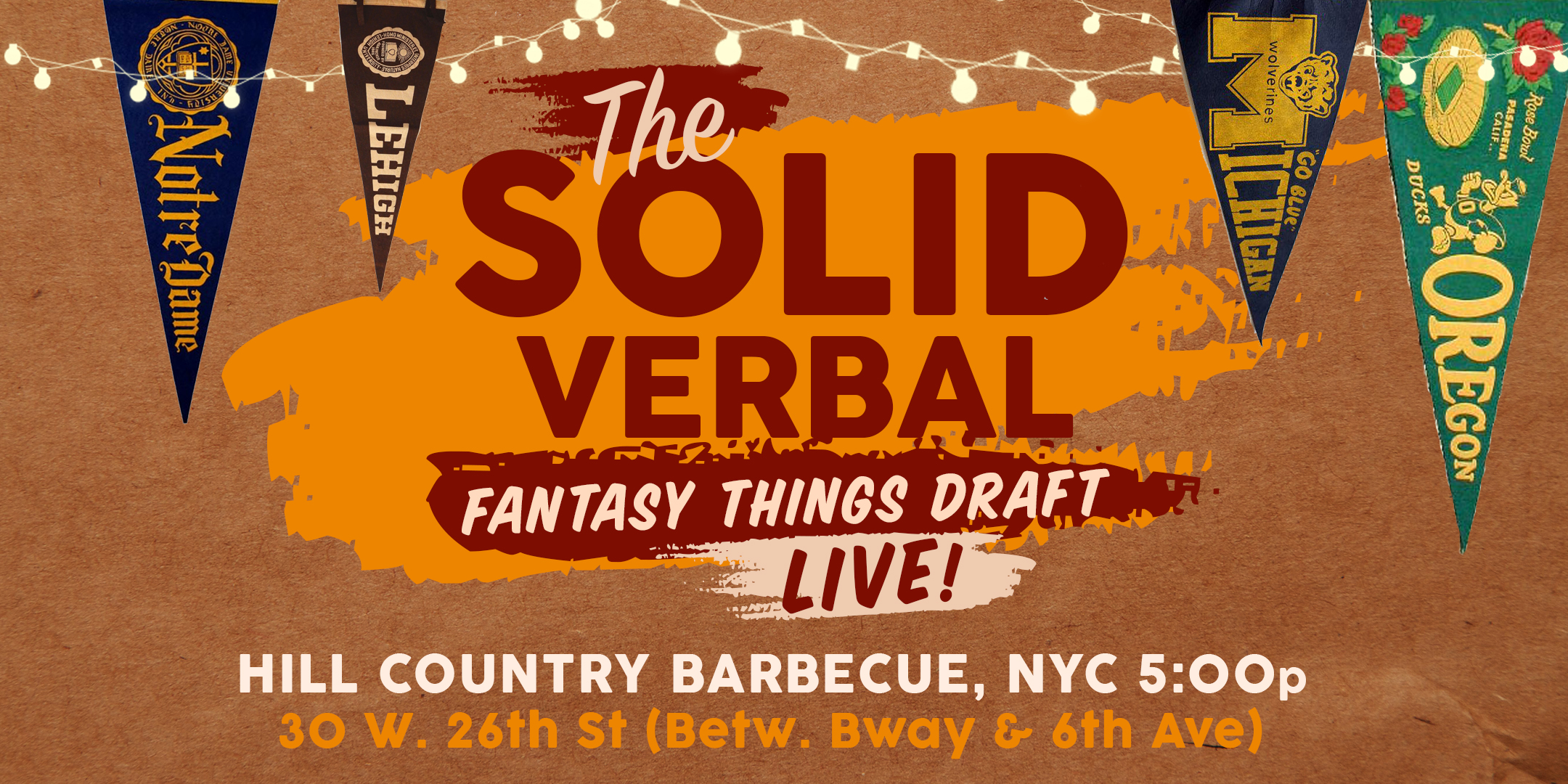 solidverbal.com - Fantasy Things Draft (Live from NYC)