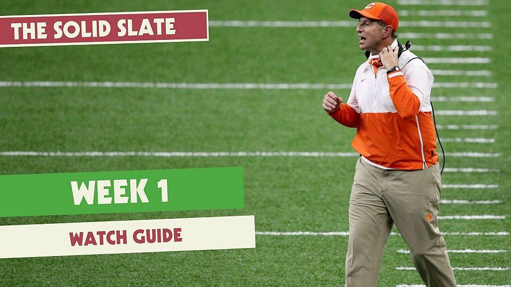 College Football Week 1 TV Guide
